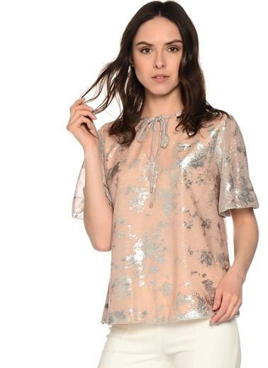 House Of Camellia Yaka Detaylı Şifon Bluz Pembe
